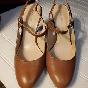 Beautiful Tobacco color Franco Sarto heels